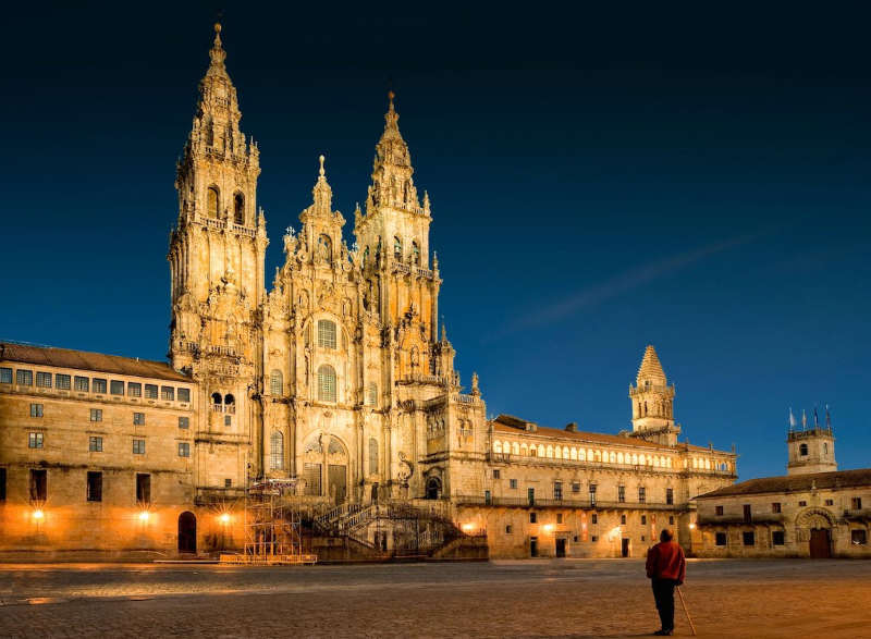 Catedral-de-Santiago-de-Compostela-lugares turisticos de españa