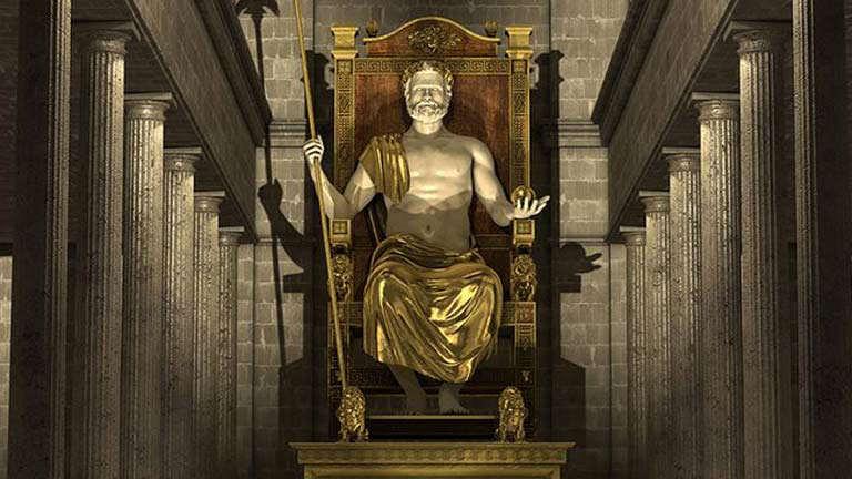 Estatua de Zeus - siete maravillas del mundo antiguo
