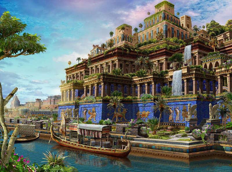Jardines de Babilonia - las 7 maravillas del mundo antiguo