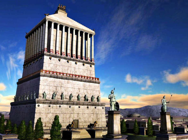 Mausoleo Halicarnassus - siete maravillas del mundo antiguo