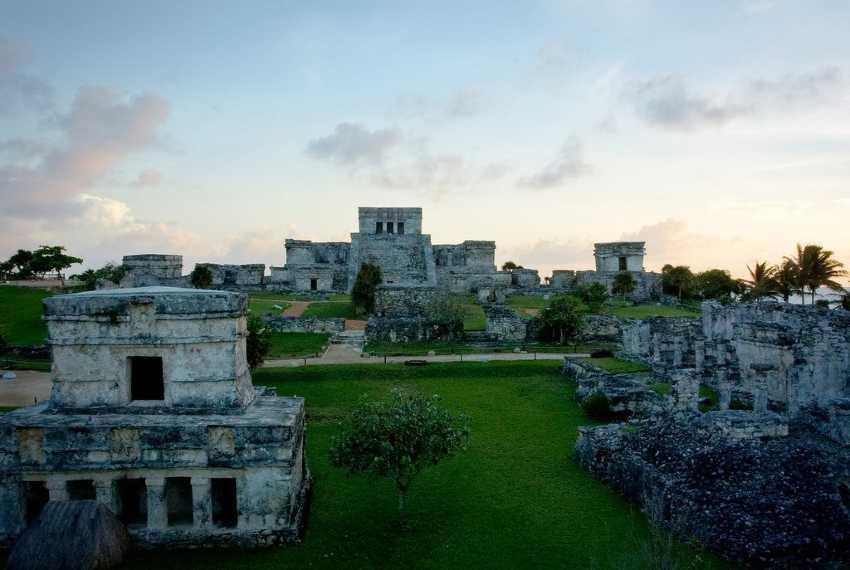 Ruinas de Tulum al atardecer