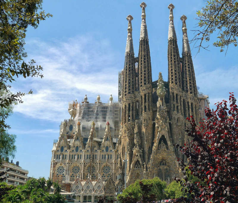 Sagrada familia - lugares turisticos españa